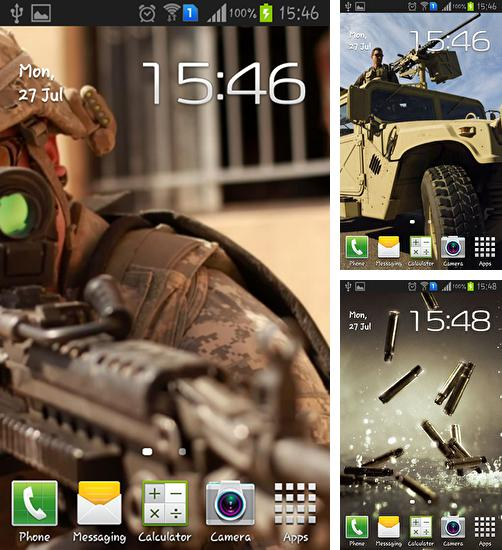 In addition to live wallpaper Black cat for Android phones and tablets, you can also download Military for free.