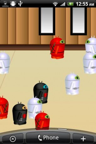 Screenshots of the Mini droid city for Android tablet, phone.