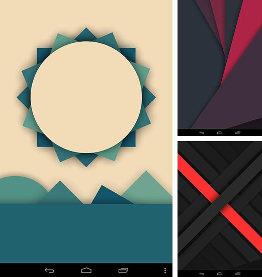 In addition to live wallpaper Spirly for Android phones and tablets, you can also download Minima for free.