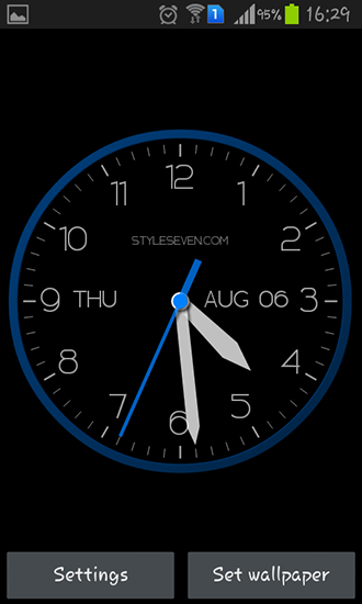 Download livewallpaper Modern clock for Android. Get full version of Android apk livewallpaper Modern clock for tablet and phone.