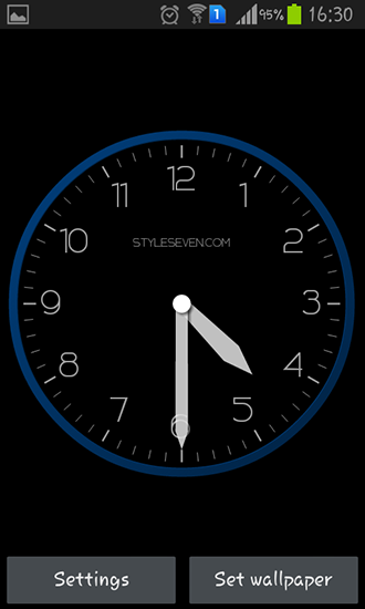 Screenshots of the Modern clock for Android tablet, phone.