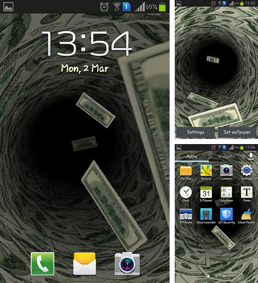 In addition to live wallpaper Cute dragon for Android phones and tablets, you can also download Money for free.