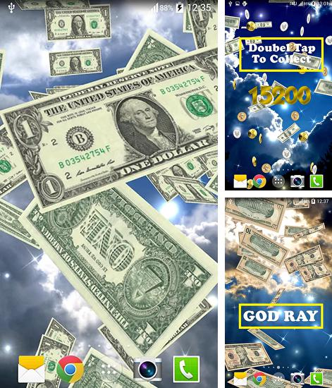 In addition to live wallpaper Baby floats for Android phones and tablets, you can also download Money rain for free.