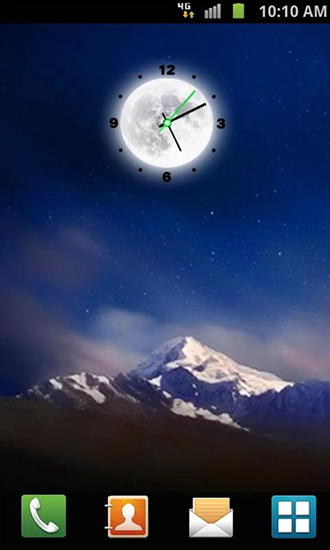 Download livewallpaper Moon clock for Android. Get full version of Android apk livewallpaper Moon clock for tablet and phone.