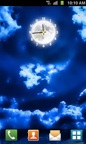 Download Moon clock - livewallpaper for Android. Moon clock apk - free download.
