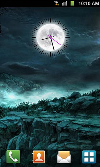 Screenshots of the Moon clock for Android tablet, phone.