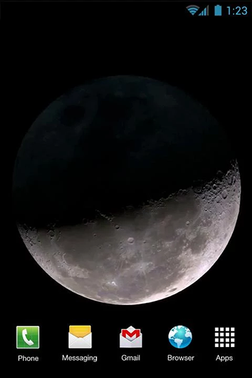 Screenshots of the Moon phases for Android tablet, phone.