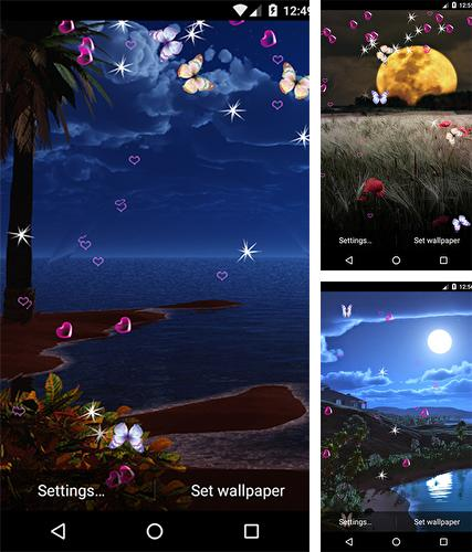 Descarga gratuita fondos de pantalla animados Luz de la luna para Android. Consigue la versión completa de la aplicación apk de Moonlight by 3D Top Live Wallpaper para tabletas y teléfonos Android.