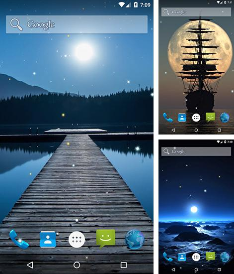 In addition to live wallpaper Space planets for Android phones and tablets, you can also download Moonlight by Kingsoft for free.