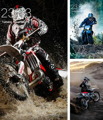 Kostenloses Android-Live Wallpaper Motocross. Vollversion der Android-apk-App Motocross für Tablets und Telefone.