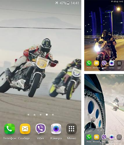 Download live wallpaper Motorbike drift for Android. Get full version of Android apk livewallpaper Motorbike drift for tablet and phone.