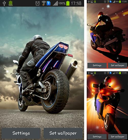 In addition to live wallpaper Kitten on Christmas for Android phones and tablets, you can also download Motorcycle for free.
