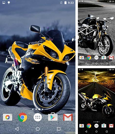 In addition to live wallpaper Touch of magic for Android phones and tablets, you can also download Motorcycles for free.