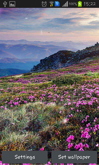 Download Mountain flower - livewallpaper for Android. Mountain flower apk - free download.