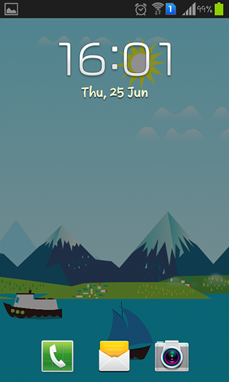 Screenshots of the Mountains now for Android tablet, phone.