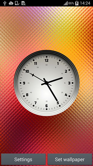 Screenshots of the Multicolor clock for Android tablet, phone.