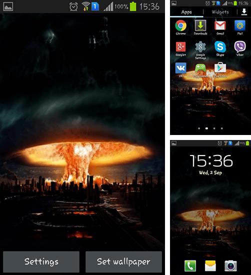 In addition to live wallpaper Doll for Android phones and tablets, you can also download Mushroom cloud for free.
