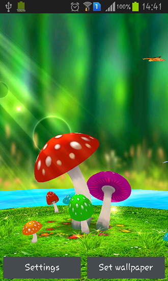Mushrooms 3d Live Wallpaper For Android Mushrooms 3d Free