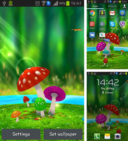 In addition to live wallpaper Stylish backgrounds for Android phones and tablets, you can also download Mushrooms 3D for free.