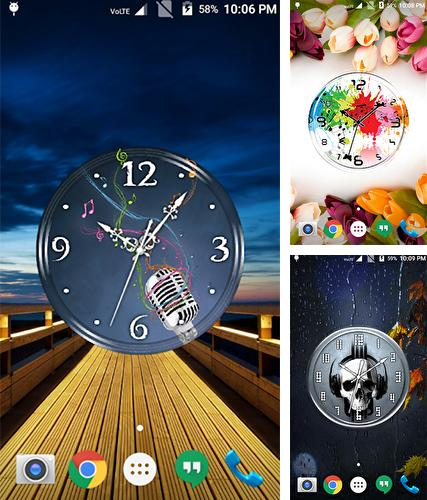 Download live wallpaper Music clock for Android. Get full version of Android apk livewallpaper Music clock for tablet and phone.