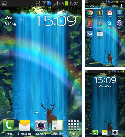In addition to live wallpaper Easter for Android phones and tablets, you can also download Mystic waterfall for free.