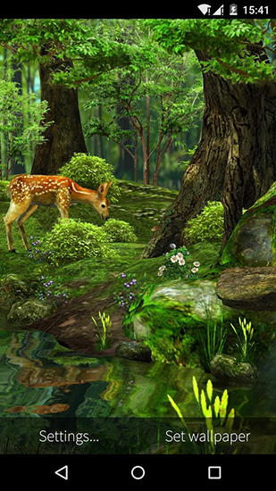 Nature 3D live wallpaper for Android  Nature 3D free