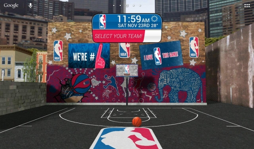 Screenshots of the NBA 2014 for Android tablet, phone.