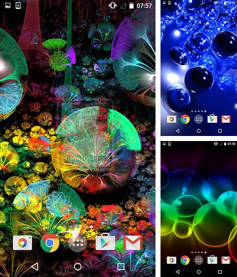 In addition to live wallpaper Mystic night by Amax LWPS for Android phones and tablets, you can also download Neon bubbles for free.