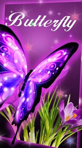 Neon Butterfly 3d Pour Android A Telecharger Gratuitement Fond D Ecran Anime Papillon De Neon 3d Sous Android