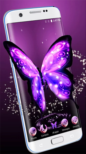 Download Neon butterfly 3D - livewallpaper for Android. Neon butterfly 3D apk - free download.