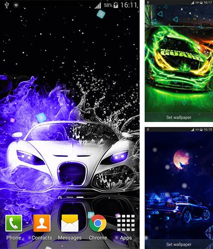 Kostenloses Android-Live Wallpaper Neonautos. Vollversion der Android-apk-App Neon cars für Tablets und Telefone.