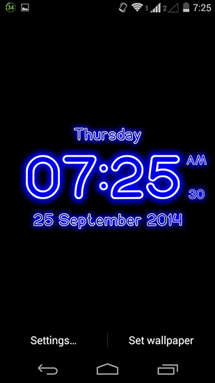 Download livewallpaper Neon digital clock for Android. Get full version of Android apk livewallpaper Neon digital clock for tablet and phone.