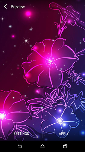 Neon flower by Dynamic Live Wallpapers