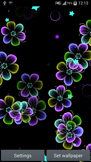 Download Neon flowers - livewallpaper for Android. Neon flowers apk - free download.