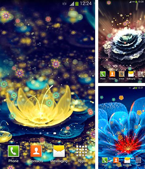 Download live wallpaper Neon flowers 2 for Android. Get full version of Android apk livewallpaper Neon flowers 2 for tablet and phone.