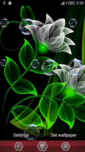 安卓平板、手机Neon flowers by Next Live Wallpapers截图。