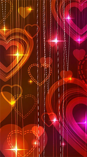Screenshots of the Neon hearts by Creative Factory Wallpapers for Android tablet, phone.
