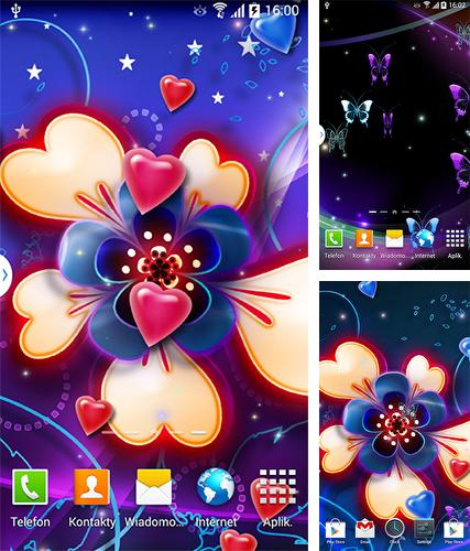 Neon hearts by Live Wallpapers 3D