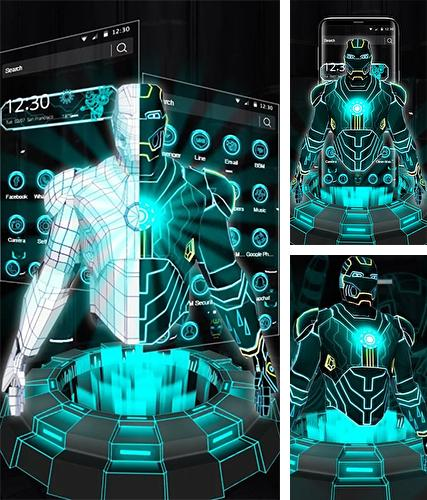 Download live wallpaper Neon hero 3D for Android. Get full version of Android apk livewallpaper Neon hero 3D for tablet and phone.