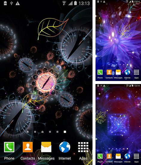 In addition to live wallpaper Analog clock by Alexander Kutsak for Android phones and tablets, you can also download Neon leaf fall for free.