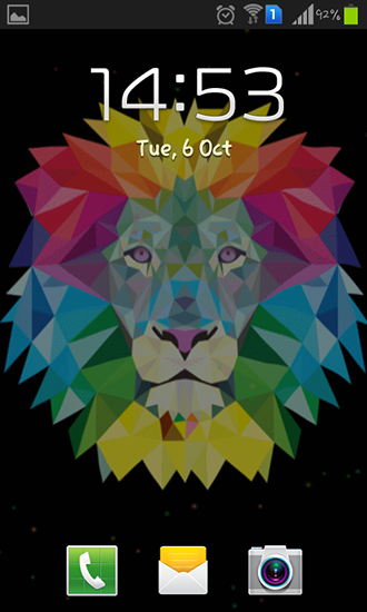 Screenshots of the Neon lion for Android tablet, phone.