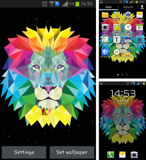 In addition to live wallpaper Rainy night for Android phones and tablets, you can also download Neon lion for free.