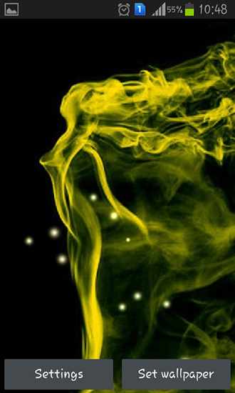 Screenshots of the Neon smoke for Android tablet, phone.