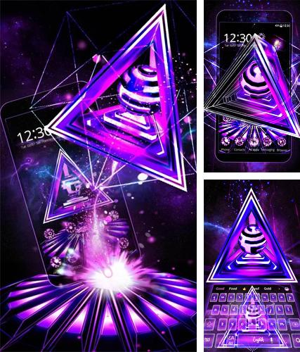 Download live wallpaper Neon triangle 3D for Android. Get full version of Android apk livewallpaper Neon triangle 3D for tablet and phone.