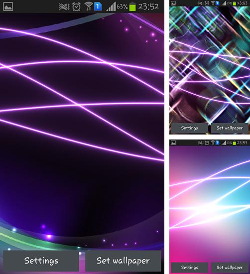 In addition to live wallpaper Meteor stele for Android phones and tablets, you can also download Neon waves for free.