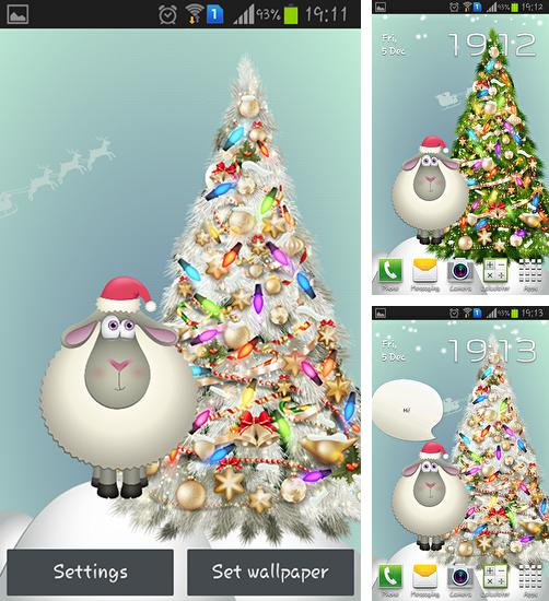 In addition to live wallpaper Snowy night for Android phones and tablets, you can also download New Year 2015 for free.