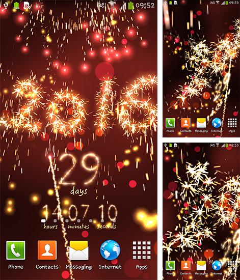 In addition to live wallpaper Power of life for Android phones and tablets, you can also download New Year: Countdown for free.