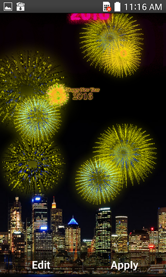 Screenshots von New Year fireworks 2016 für Android-Tablet, Smartphone.