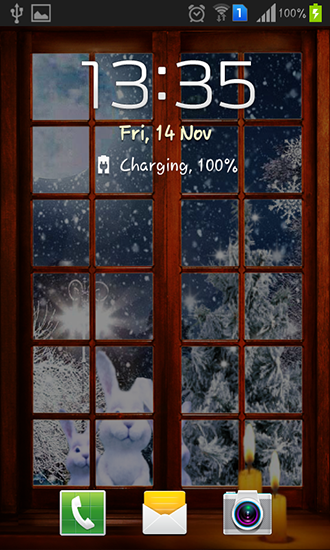 Screenshots of the New Year night for Android tablet, phone.