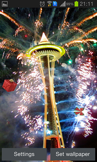 Screenshots of the New Year's Eve for Android tablet, phone.